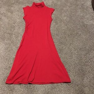 Diane von furstenberg red mock turtleneck dress 10